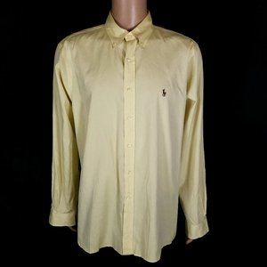 Ralph Lauren Dress Shirt 100% Cotton Size 17.5 /44